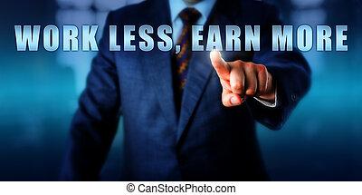 Entrepreneur Pushing WORK LESS, EARN MORE - Entrepreneur is...