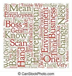 entrepreneur scan text background word cloud concept