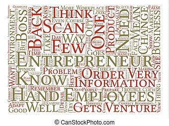entrepreneur scan Word Cloud Concept Text Background