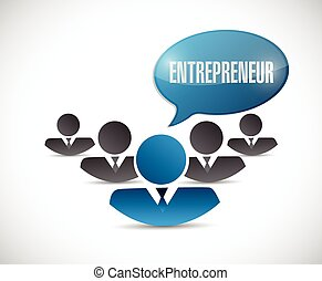 entrepreneur team illustration design over a white...
