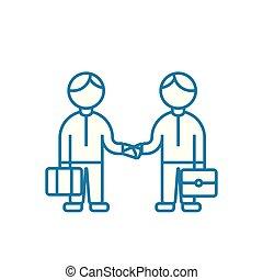 Entrepreneurial activity linear icon concept. Entrepreneurial activity line vector sign, symbol, illustration.