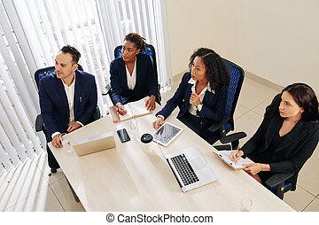Entrepreneurs attending business training