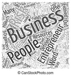 entrepreneurs Word Cloud Concept