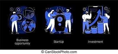 Entrepreneurship abstract concept vector illustrations.