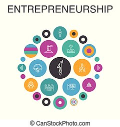 entrepreneurship, direction, bâtiment, concept.,...
