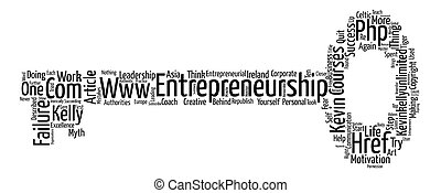 Entrepreneurship the Failure Myth text background word cloud concept