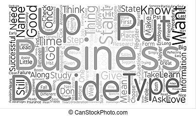 entrepreneurship Word Cloud Concept Text Background