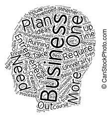 Entreprenuer University text background wordcloud concept