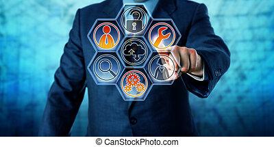 entreprise, contrôlé, services, client, activer