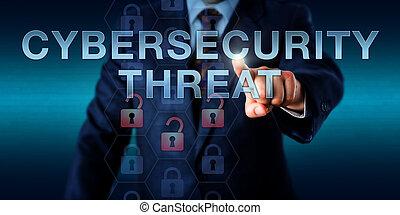 entreprise, pousser, cybersecurity, menace, utilisateur