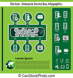 entreprise, technologie, infographics
