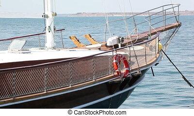 entrer, yacht, port, mer