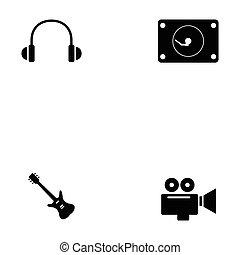entretenimento, ícone, jogo