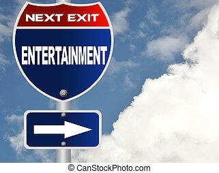 entretenimento, sinal estrada