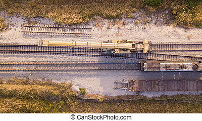 entretien, railway., pistes, rail, process., réparation