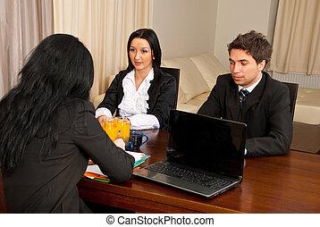 entrevista, pessoas negócio