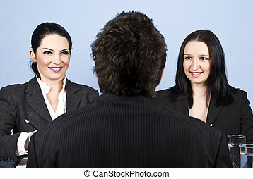 entrevista, trabalho, negócio