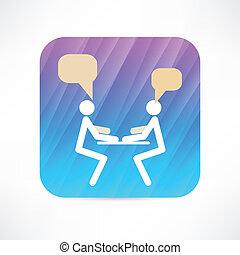 entrevue, icône