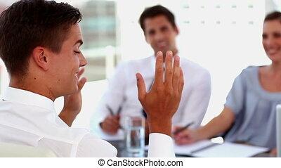 entrevue, métier, avoir, homme
