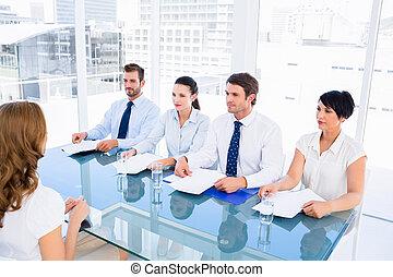 entrevue, métier, vérification, pendant, recruteurs, ...