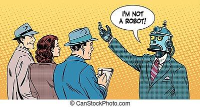 entrevue, présidentiel, robot, candidat, donne
