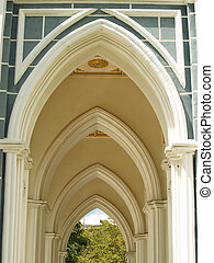 Entry arch in church