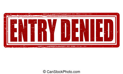 Stamp with text entry denied inside, vector illustration