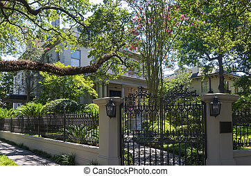Entry Gate Garden and Home in Historic New Orleans