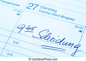 entry in calendar: divorce