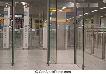 entry into the control zone at the airport, security check