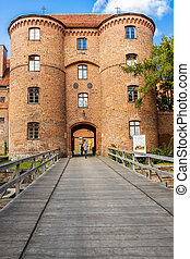 Entry to fortification in Frombork.