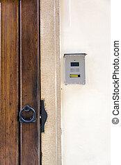 entryphone of an old door