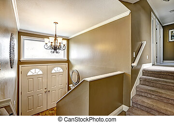 Entryway in small American home