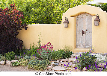 Entryway near Canyon Road in Santa Fe