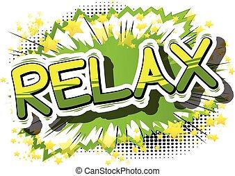 entspannen, -, komisches buch, word.