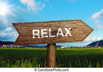 entspannen, straße zeichen