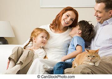 entspannend, familie