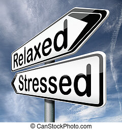 entspanntes, oder, genervt
