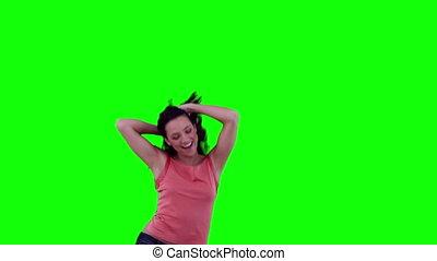 entuzjastyczny, kobieta taniec