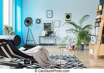 entwerfer, möbel, in, dachgeschoss