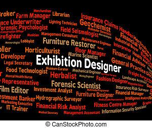 entwerfer, messe, handeln, ausstellung, demonstration, shows