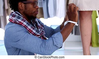 entwerfer, mode, kleiden, arbeitende