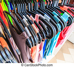 entwerfer, regal, hängen, thailand, kaufmannsladen, kleidung