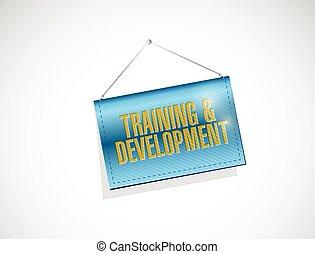 entwicklung, training, hängender