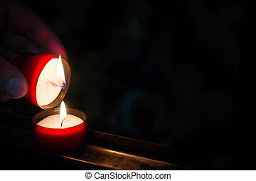 entzünden, licht, denkmal