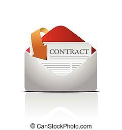 envío, contrato