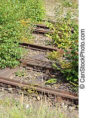 envahi, train, 3, rails
