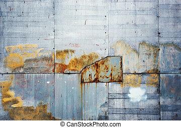 envelhecido, grunge, textured, ao ar livre, parede, fundo