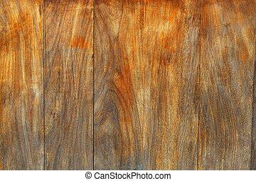 envelhecido, mel, madeira resistida, fundo
