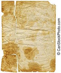 envelhecido, papel, 3, (path, included)
